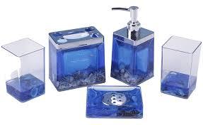 blue bathroom accessories bathroom decor