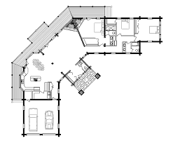garage building plan log cabin floor plans with garage decohome