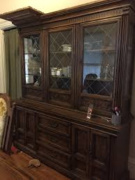 i have a large solid oak burlington house dining room set solid