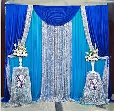 wedding backdrop blue online shop free shipping royal blue sqeuin wedding backdrop stand