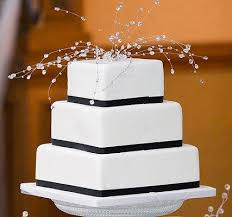 plain wedding cakes pictures of black and white wedding cakes lovetoknow