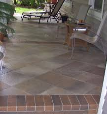 Tiling A Concrete Patio by Patio Tiles Over Concrete Crafts Home