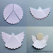 diy easy way to do cool paper angels for your first communion