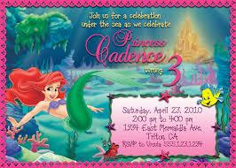 ariel mermaid invitation template u2013 orderecigsjuice