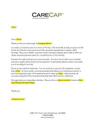 carecap 90 day past due letter generic