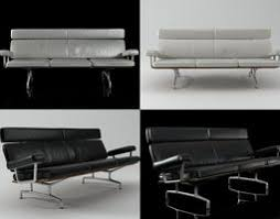 wireframe sofa 3 seat 3d model cgtrader