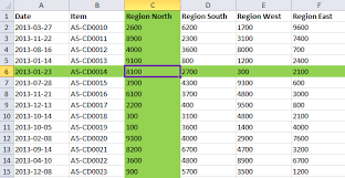 highlight a selected cell s row and column