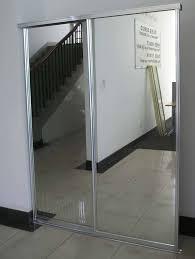 Sliding Glass Mirrored Closet Doors Pocket Door Mirror Closet Closet Doors