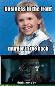 Little Girl Meme Teeth - 1 1 teeth to mullet ratio mullets humour and funny things