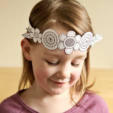 paper flower crown kids crafts flower headband birthday