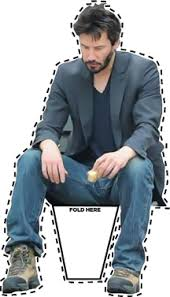 Sad Keanu Reeves Meme - sad keanu papercraft papercraft meme and funny things