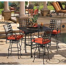 wrought iron patio furniture bar height wrought iron patio set