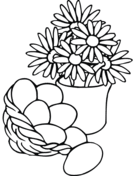 Easter Flower Coloring Pages - easter flowers coloring page free printable coloring pages