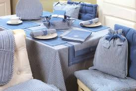 chair seat pads with matching tablecloths and place mats from