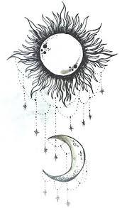 sun and moon tattoo art u0026 cool stuff pinterest moon tattoo
