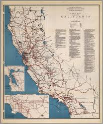 Map Of Calif Road Map Of The State Of California 1936 1937 David Rumsey