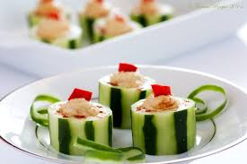 hummus filled cucumber cups framed recipes