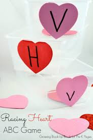 valentine racing hearts abc game pre k pages
