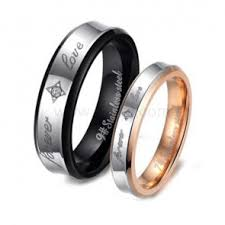 Wedding Rings Sets For Him And Her by Unique Custom Titanium Rings Sets For Him And Her Personalized