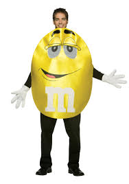 yellow m m costume