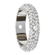 2 s ring swarovski 8100102 2 thread pave bead frame ring