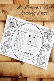 st patrick u0027s day coloring page sweet rose studio
