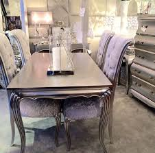 Silver Dining Chairs Silver Dining Room Sets With Well Dining Table Silver Dining Table