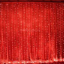 Led Light Curtains Cheap 300 Led Red Fairy Curtain String Lights For Party Curtain
