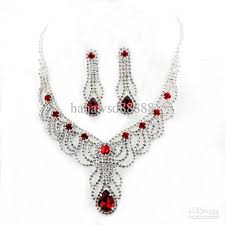 jewelry necklace images 2018 wedding jewelry necklace earring set noble crystal pendant jpg
