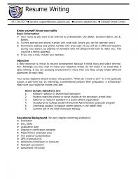 Resume Samples Objective Summary by Sample Career Goals And Objectives Job Resume Goals And Objectives