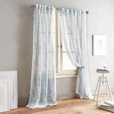 Dusty Blue Curtains Buy Blue Sheer Curtain Panels From Bed Bath U0026 Beyond