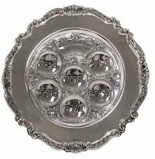 messianic seder plate silver ornate seder plate 15 inch while supplies last