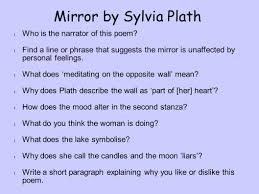 What Does Wall Mean by Mirror By Sylvia Plath Who Is The Narrator Of This Poem Ppt