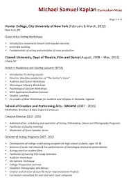 Facilitator Resume Michael Samuel Kaplan Teaching Resume