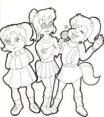 beautiful the chipettes coloring pages 54 in coloring pages online