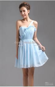 light blue mini dress light sky blue short mini homecoming bridesmaid dresses party