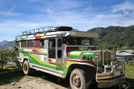 philippines jeepney inside jeepney on mountain road near sagada northern luzon the