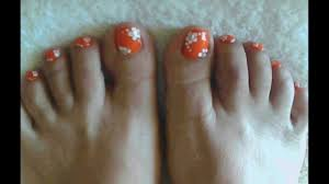 pretty coral toe nail art design youtube
