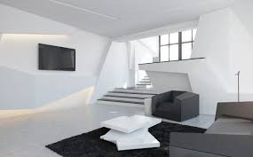 futuristic room decor glass table top and storage floor to ceiling