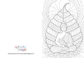 buddha colouring card