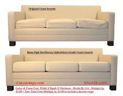 Couch Upholstery Cost Best 25 Couch Cushion Foam Ideas On Pinterest Foam Sofa Bed