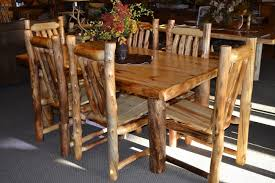 Log Dining Room Table Rustic Dining Chairs For Amazing Dining Room Modern Kitchen 2017
