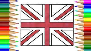 united kingdom flag coloring book how to draw united kingdom