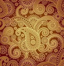 paisley pattern vector gold paisley pattern vector