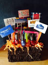gift card tree ideas christmas themed gift baskets