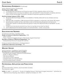 Resume Electrician Sample by Good Software Engineer Resume Sample And Military History And