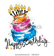 happy birthday calligraphy stock images royalty free images