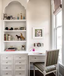 kid desk next to window transitional u0027s room