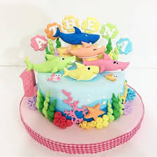Baby Shark Baby Shark Cake Birthdaycake Bandungcake Delightfullycake