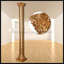 frp decoration roman column pillar pu roman column home decor
